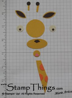 paper punch giraffe