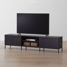Shop Rigby Wenge Media Console with Base. The Rigby Large Wenge Media Console with Base is a Crate and Barrel exclusive. Crate Nightstand, Crate Bench, Crate Table, Dog Crate, Ikea Media Console, Milk Crate Storage, Tv Stand Shelves, Storage Shelves, Brass Door Handles