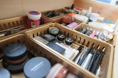 I need this! My sister's makeup has taken over the entire bathroom! organised drawers @Emily Schuman #cupcakesandcashmere