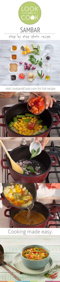 SAMBAR RECIPE Sambar Recipe(#LC14036): Sambar is a vegetable curry with plenty of gravy mostly eaten with Idli.