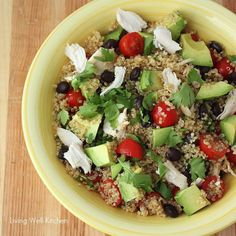 Refreshing and healthy Mexican Quinoa Salad that's easily adaptable to what you have in your kitchen