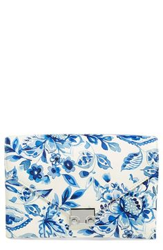 Loeffler Randall 'Lock' Floral Print Leather Clutch available at #Nordstrom