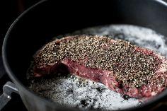 thedinnerconcierge:  Steak au Poivre @ Shuttersmack