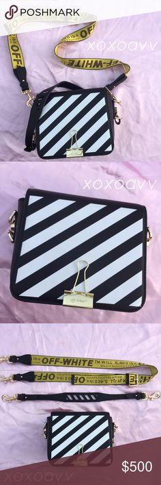 READ DESCRIPTION‼️ Off White Binder Clip Bag Received as a Christmas gift but I need to pay this month's rent so, I'm selling it!                                                 I only used it once and the purse is in MINT condition. Literally almost new.  This was an Off-White seasonal pick from Net-A-Porter.   Comes with two straps!   🌹100% AUTHENTIC 🌹 Bags