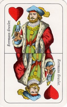 German Playing Cards, I like them! Crafts With Pictures, King Of Hearts, Paper Toys, Rey, Free Printables, Playing Cards, German, Clip Art, Princess Zelda