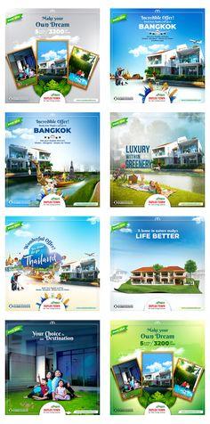 Social Media Art, Social Media Poster, Social Media Design, Real Estate Advertising, Real Estate Ads, Real Estate Banner, Banner Design Inspiration, Graphic Design Brochure, Web Design