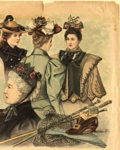 Hats and hairstyles, Spring 1894 :: Fashion Plate Collection, 19th Century