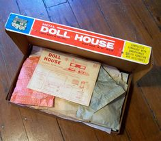 1960s Marx Modern Colonial Tin Metal lithographed Dollhouse Box Furniture 4022 | eBay