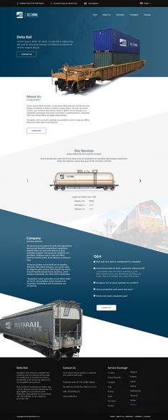 Design for railway logistics company. Cart images are property of turbosquid.com