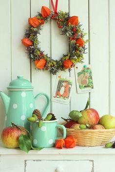 pfefferminzgruen: Herbstgefühle + Blumenkranz