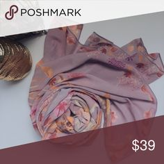 printed scarf (pashmina) Romantic Scarves, From My own Label, product: printed scarves/ pashmina.  Material premium chiffon pretty wearing a hijab, headscarf and accessories. Premium quality.  Size: 200cm x 75cm.  Color: light pink.   Price is negotiable, feel free make an offer,  Bundle and save (20% off 3+ bundles) silka Accessories Scarves & Wraps