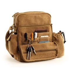 Gumstyle® Vintage Multi-fonction Canvas Messenger Shoulder Bag * Check this awesome product by going to the link at the image.