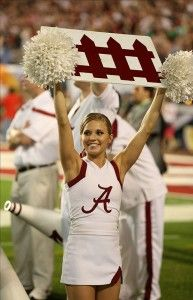 It's pretty simple. Each day we bring our fans a look at cheerleaders from around the country. Up today, the ladies of Alabama.