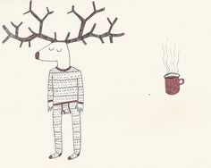 Winter illustration by Ena Jurov.