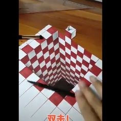 Arts And Crafts Storage 3d Pencil Drawings, 3d Art Drawing, Cool Art Drawings, Amazing Drawings, Art Drawings Sketches, 3d Art Pen, Illusion Kunst, Illusion Drawings, 3d Illusion Art