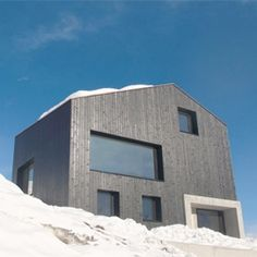 The Lumbrein Residence by Hurst Song Architekten A beautiful holiday home tucked away in the Swiss Alps.
