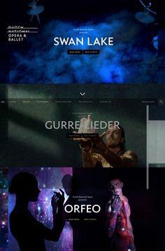 """http://www.operaballet.nl/en  magnifique site avec des univers graphique pour chaque ballet sous forme de """"gif"""" en arriere plan"""