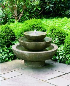 The Platia Fountain provides the perfect modern accent to a patio.