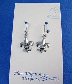 Fleur de Lis Classic Silver Earrings