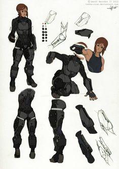 Reina- Armor Studies by Tekka-Croe on DeviantArt