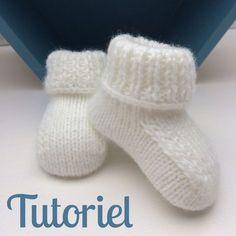 Comme promis sur Instagram, je vous livre mes explications pour tricoter de jolis chaussons pour bébé avec de jolies finitions comme sur la photo !