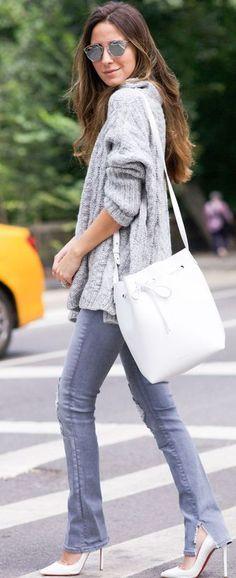 Gray And White Fall Inspo #Fashionistas