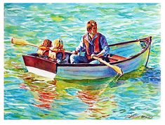 Rowing for shore