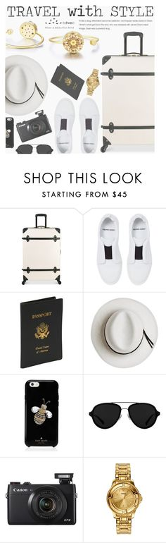 """Travel With Style"" by totwoo ❤ liked on Polyvore featuring Diane Von Furstenberg, Pierre Hardy, Royce Leather, Calypso Private Label, Kate Spade, 3.1 Phillip Lim, Versus, WearableTech, totwoo and smartjewelry"