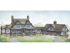 European Home Plan with 5270 Square Feet and 4 Bedrooms from Dream Home Source | House Plan Code DHSW077650