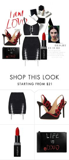 """""""xxx"""" by pauloskompanieros on Polyvore featuring H&M, Charlotte Olympia, Smashbox and Gucci"""