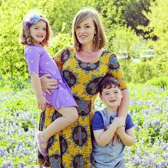There are a number of reasons I decided to start a business and chose LuLaRoe but the biggest reason of all are my children. I want more time with them and I want to make sure they have a financially secure future. Last weekend we took these photos together amid the bluebonnets. My daughter wore the Adeline and I wore the Nicole and less than week after becoming an official retailer by next week I'll be carrying a limited edition selection of Mommy and Me matching dresses in these two…