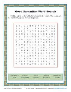 Good Samaritan Word Search