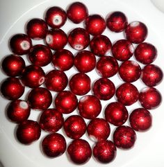 40pcs 10mm Deep Red Drizzled Glass Beads!. Starting at $5