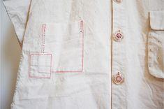 calico shit dress pocket detail by Minus Sun