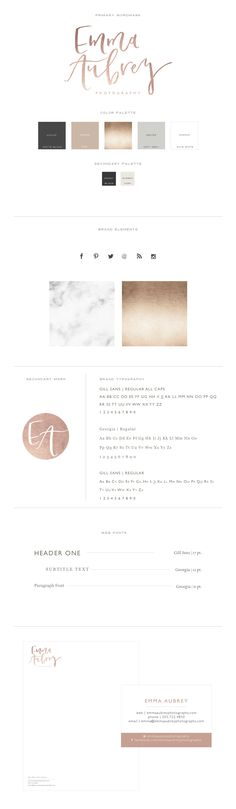 Branding for Emma Aubrey | Branding and Web Design for Women in Business by With…