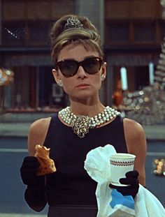 audrey and marilyn, Audrey Hepburn in Breakfast at Tiffany's (1961).