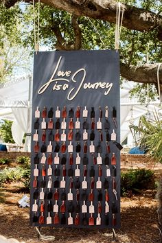 love is a journey luggage tag favor display #weddingfavor #luggagetag #love