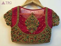15 Latest Heavy Designer Saree Blouse Designs Heavy designer blouses are appropriate when you are going for a party, wedding or major function. This heavy designer blouses can be paired with sarees or lehengas. Here in this post, we are talkin… Netted Blouse Designs, Wedding Saree Blouse Designs, Best Blouse Designs, Pattu Saree Blouse Designs, Blouse Neck Designs, Blouse Patterns, South Indian Blouse Designs, Wedding Blouses, Saris