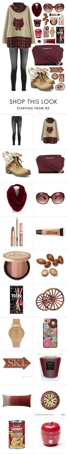 """Untitled #331"" by nadiahirbah288 ❤ liked on Polyvore featuring J Brand, Steve Madden, MICHAEL Michael Kors, Essie, Oliver Peoples, Torrid, DutchCrafters, Shore Projects, Casetify and Baobab Collection"
