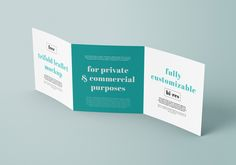 Free square and trifold leaflet mockup. Can be used in private and commercial purposes.