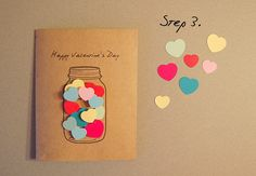 Cute cards for birthdays or any super event diy valentines cards, valentine Diy Valentines Cards, Valentine Day Crafts, Homemade Valentine Cards, Happy Valentines Day, Handmade Birthday Cards, Diy Birthday, Gifts For Birthday, Tarjetas Diy, Valentine's Day Diy