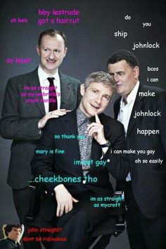 I'm sorry to any of you who don't ship Johnlock or Mystrade, but this was just too funny not to pin...