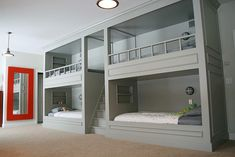 Large family solution: Lots of bunk beds.