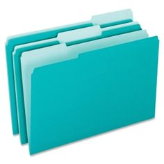 Teal file folders yayyyy cute office supplies are my fave!