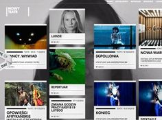A minimal leading Polish Theatre site with video and responsive design.