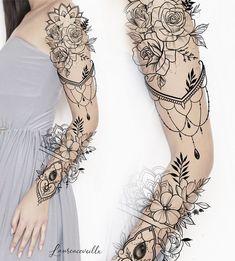 Half Sleeve Tattoo Designs and Meanings Tattoos - diy best tattoo images - Tattoos - Woman Tattoo Sleeve Ideas Design Tattoo Design – Laurenceveillx Tattoo Ideas Tattoo Designs - Best Sleeve Tattoos, Sleeve Tattoos For Women, Arm Tattoos, Body Art Tattoos, Woman Tattoos, Henna Arm Tattoo, Hand Tattoo, Tatoos, Women Sleeve