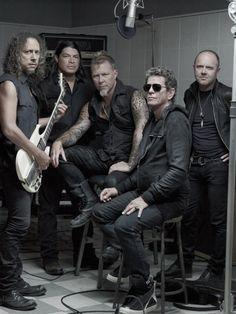 Metallica 2011: Kirk Hammett, Robert Trujillo, James Hetfield, Lou Reed, Lars Ulrich