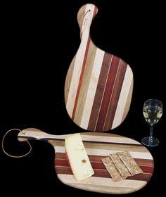 Hardwood Cutting Board with Handle