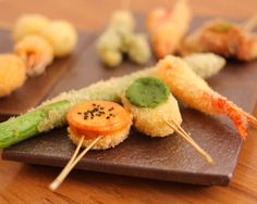 ぐるなび - 伊佐(白山/串揚げ) Japanese Food Sushi, Sushi Recipes, Tempura, Fish And Chips, What To Cook, Drinking Tea, Soho, Meal Planning, Catering