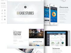 Here's a sneak peak on a case studies landing page for the Handsome website. Copy is still a WIP, but make sure to check out the attachments for for some more pixels.   Some of the client work we'r...